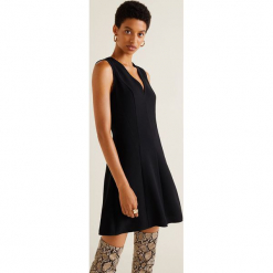 Mango - Sukienka Baba. Szare sukienki mini marki Mango, na co dzień, l, z tkaniny, casualowe, z dekoltem halter, na ramiączkach, rozkloszowane. Za 139,90 zł.