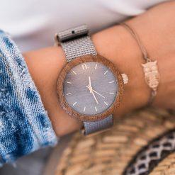 Drewniany zegarek damski new hoop 38 mm n065. Brązowe zegarki damskie Pakamera. Za 374,00 zł.