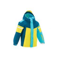 Kurtka narciarska 300 KID. Niebieskie kurtki dziewczęce marki WED'ZE. W wyprzedaży za 99,99 zł.