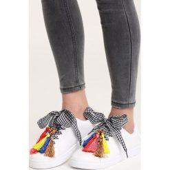 Buty sportowe damskie: Białe Buty Sportowe Sweet Fantasy