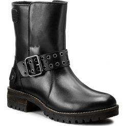 Botki PEPE JEANS - Hellen Open PLS50301 Black 999. Czarne botki damskie skórzane marki Pepe Jeans. W wyprzedaży za 299,00 zł.