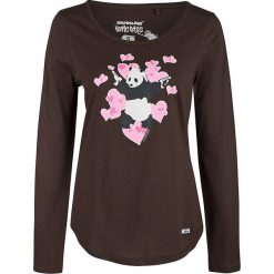 Koszulka w kolorze brązowym. Brązowe bluzki z odkrytymi ramionami Homebase, Tuffskull & Soulstar, m, z nadrukiem, z okrągłym kołnierzem. W wyprzedaży za 106,95 zł.