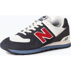 New Balance - Tenisówki męskie z dodatkiem skóry, niebieski. Niebieskie tenisówki męskie marki New Balance, ze skóry. Za 379,95 zł.