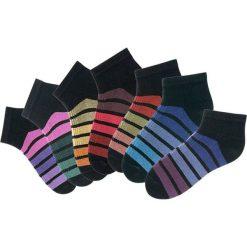 Skarpetki damskie: Skarpetki damskie stopki H.I.S (7 par) bonprix czarny w kolorowe paski