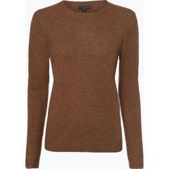 Franco Callegari - Damski sweter z wełny merino, beżowy. Zielone swetry klasyczne damskie marki Franco Callegari, z napisami. Za 249,95 zł.