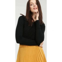 Swetry klasyczne damskie: Czarny Sweter Distant Target