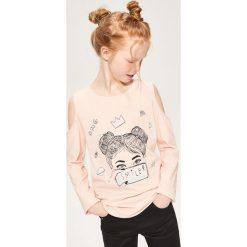 T-shirty dziewczęce: Bluzka typu hiszpanka - Pomarańczo