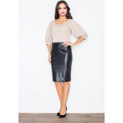 Spódniczki: Klasyczna Elegancka Ołówkowa Spódnica w Kolorze Czarnym