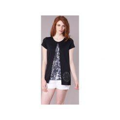 T-shirty z krótkim rękawem Desigual  NUTILAD. Czarne t-shirty damskie Desigual, l. Za 231,75 zł.