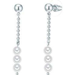 Kolczyki z perłami. Szare kolczyki damskie Pearls Special, z perłą, z mosiądzu. W wyprzedaży za 45,95 zł.