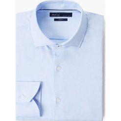 Mango Man - Koszula Culver. Niebieskie koszule męskie na spinki marki bonprix, m, z nadrukiem, z klasycznym kołnierzykiem, z długim rękawem. Za 199,90 zł.