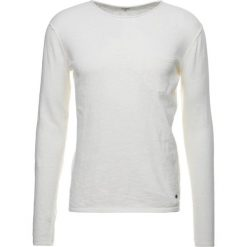 Swetry klasyczne męskie: Solid NORFOLK Sweter off white