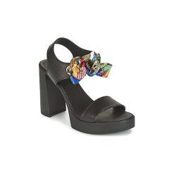 Sandały Love Moschino  I LOVE FOULARD. Szare sandały trekkingowe damskie marki Love Moschino, z materiału. Za 759,20 zł.