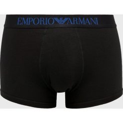 Emporio Armani - Bokserki. Szare bokserki męskie marki Emporio Armani, l, z nadrukiem, z bawełny, z okrągłym kołnierzem. Za 139,90 zł.