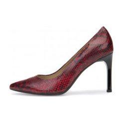 Geox Czółenka Damskie Faviola 36 Czerwony. Czerwone buty ślubne damskie marki Geox, ze skóry, na wysokim obcasie, na obcasie. W wyprzedaży za 409,00 zł.