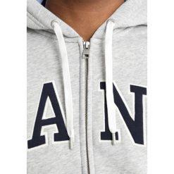 Kardigany męskie: GANT OUTLINE FULL ZIP HOODIE Bluza rozpinana grey melange