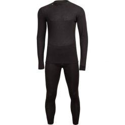 Bielizna  termoaktywna męska (góra + dół) BIM602 - głęboka czerń - Outhorn. Czarna odzież termoaktywna męska Outhorn, m, z materiału. Za 89,99 zł.