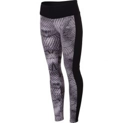 Spodnie damskie: Legginsy treningowe damskie SPDF005 – allover czarno-biały – 4F