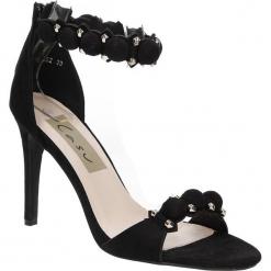 Sandały czarne na obcasie z ozdobami Casu 58-552. Czarne sandały damskie Casu, na obcasie. Za 49,99 zł.