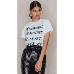T-shirty damskie: Leah Kirsch T-shirt Feminist S Ways – White