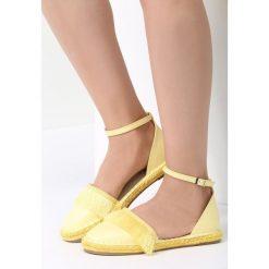 Żółte Espadryle Better Me. Żółte espadryle damskie marki Born2be, moro, na płaskiej podeszwie. Za 59,99 zł.