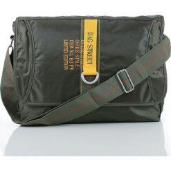 Torba na ramię Bag Street messenger office. Czarne torby na ramię męskie marki Bag Street, w paski, na ramię. Za 49,90 zł.