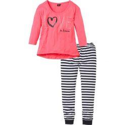 Piżamy damskie: Piżama bonprix jasnoróżowy w paski
