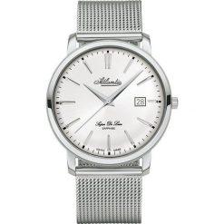 Zegarek Atlantic Męski  Super De Luxe 64356.41.21 Mesh Szafir srebrny. Szare zegarki męskie Atlantic, srebrne. Za 1563,99 zł.