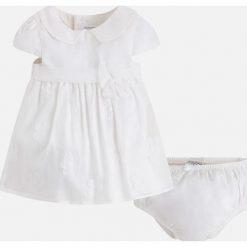 Mayoral - Sukienka dziecięca + majtki 65-80 cm. Białe bielizna dziewczęca marki Reserved, l. Za 199,90 zł.