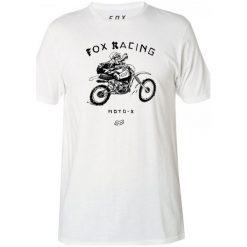 T-shirty męskie z nadrukiem: FOX T-Shirt Męski Brigade L Biały