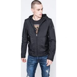 Calvin Klein Jeans - Kurtka. Szare kurtki męskie jeansowe marki Calvin Klein Jeans, l, z kapturem. W wyprzedaży za 449,90 zł.