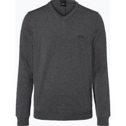 BOSS - Sweter męski – Baram-L, szary. Szare swetry klasyczne męskie Boss, l, z dzianiny. Za 499,95 zł.