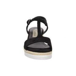 Sandały Casu  Sandały na koturnie  LS55710P. Czarne rzymianki damskie Casu, na koturnie. Za 59,99 zł.