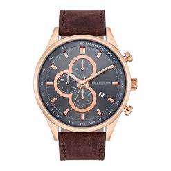 """Zegarki męskie: Zegarek """"10030094"""" w kolorze brązowo-różowozłotym"""