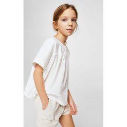 Mango Kids - Szorty dziecięce Intro 110-152 cm. Szare spodenki dziewczęce Mango Kids, z haftami, z bawełny, casualowe. W wyprzedaży za 49,90 zł.