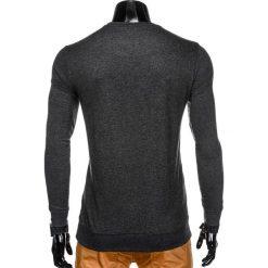 BLUZA MĘSKA BEZ KAPTURA B808 - GRAFITOWA. Szare bluzy męskie rozpinane marki Ombre Clothing, m, z bawełny, bez kaptura. Za 49,00 zł.