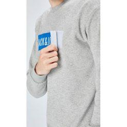Jack & Jones - Bluza. Szare bluzy męskie rozpinane marki Jack & Jones, l, z aplikacjami, z bawełny, bez kaptura. Za 169,90 zł.
