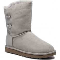 Buty UGG - W Short Turnlock Bling 1095703 W/Sel. Szare buty zimowe damskie marki Ugg, z materiału, z okrągłym noskiem. Za 969,00 zł.