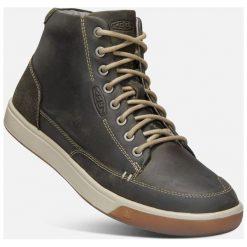 Keen Męskie Trampki Glenhaven Sneaker Mid M, Dark Olive/Black Olive, 42. Czarne trampki męskie marki Keen, ze skóry. Za 479,00 zł.