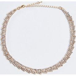 Naszyjniki damskie: Naszyjnik z kryształkami – Złoty