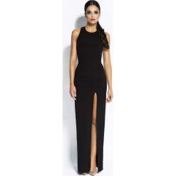 Czarna Sukienka Elegancka Maxi Długim Rozporkiem. Białe długie sukienki marki numoco, do pracy, l, z nadrukiem, z elastanu, biznesowe, z kopertowym dekoltem, z długim rękawem, kopertowe. Za 289,90 zł.