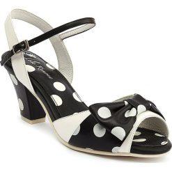 """Sandały damskie: Sandały """"Ava"""" w kolorze biało-czarnym"""