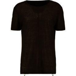 T-shirty męskie z nadrukiem: D.GNAK Tshirt z nadrukiem black blak