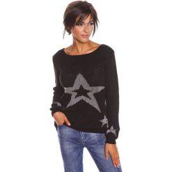 """Swetry oversize damskie: Sweter """"Jostine"""" w kolorze czarnym"""