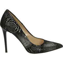 Czółenka - 4700 PRC98 NE. Szare buty ślubne damskie Venezia, ze skóry. Za 319,00 zł.