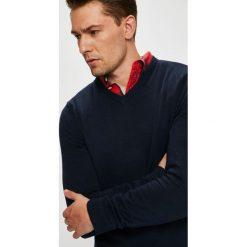 Jack & Jones - Sweter. Czarne swetry klasyczne męskie Jack & Jones, l, z bawełny. W wyprzedaży za 69,90 zł.