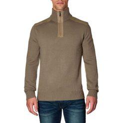 Golfy męskie: Sweter w kolorze beżowym
