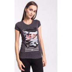 T-shirt damski TSD003z - ciemny szary melanż - 4F. Szare t-shirty damskie 4f, l, melanż, z bawełny. Za 34,99 zł.