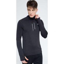 Bluzy męskie: Bluza treningowa męska BLMF002 – ciemny szary melanż
