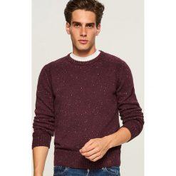 Sweter - Bordowy. Czarne swetry klasyczne męskie marki House, l. Za 99,99 zł.